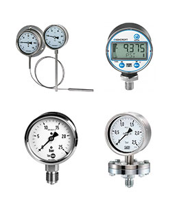 Pressure Gauges, Thermometers & Thermowells