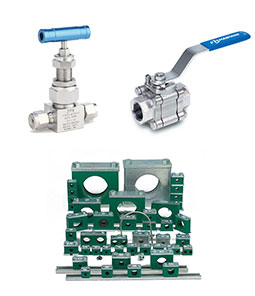 Tube Clamps, Instrumentation Valves & Manifolds